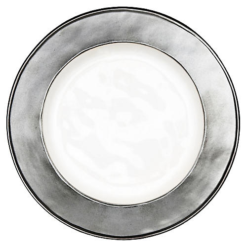 Emerson Side Plate, White/Pewter