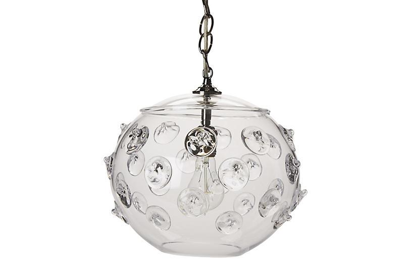 Florence Globe Pendant Brushed Nickel