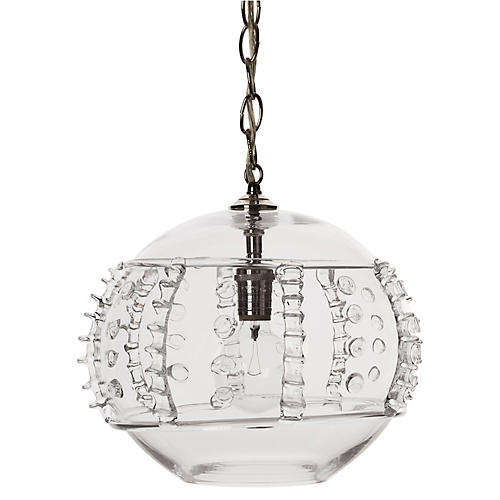 Harriet Globe Pendant, Brushed Nickel
