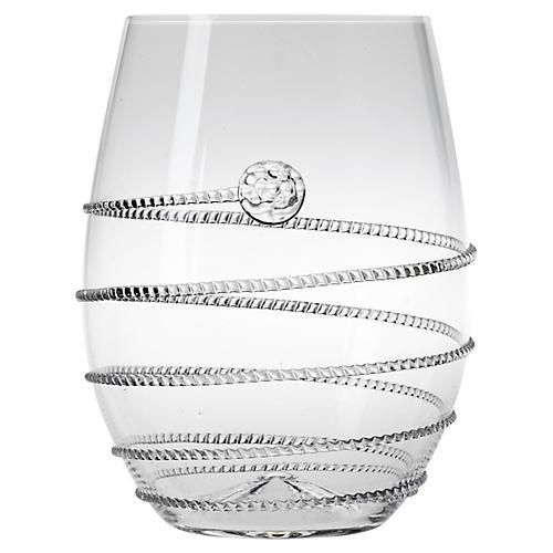Amalia Stemless White-Wine Glass, Clear