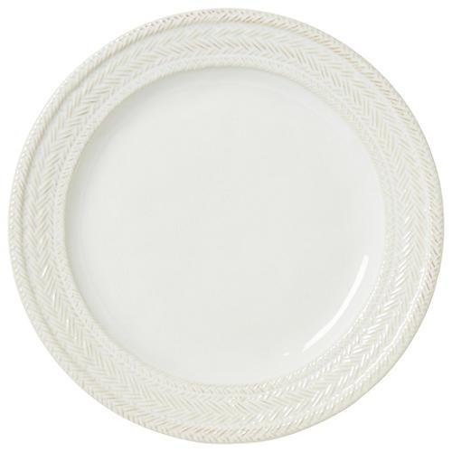 Le Panier Dinner Plate, White/Delft Blue