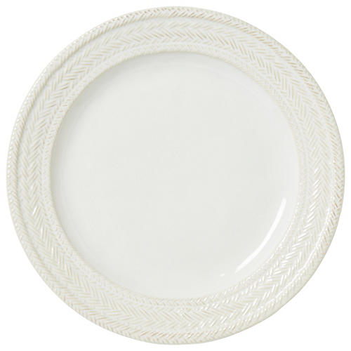 Le Panier Dinner Plate, White/Delft Blue