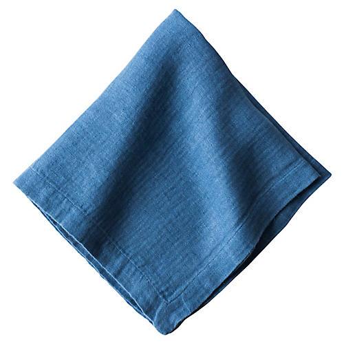 Heirloom Linen Napkin, Delft Blue