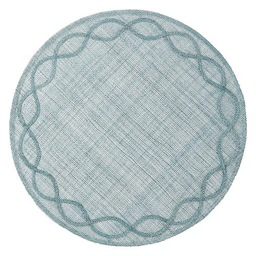 Tuileries Garden Place Mat, Ice Blue
