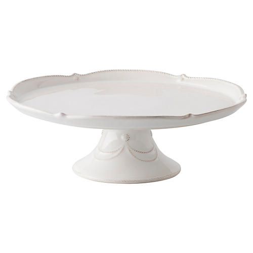 Berry & Thread Pedestal Cake Stand, White