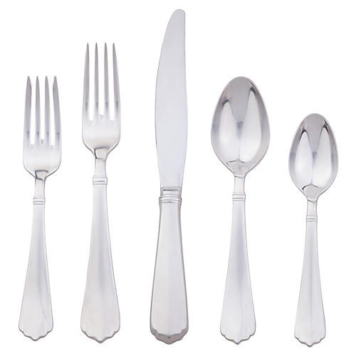 5-Pc Kensington Flatware Set, Silver