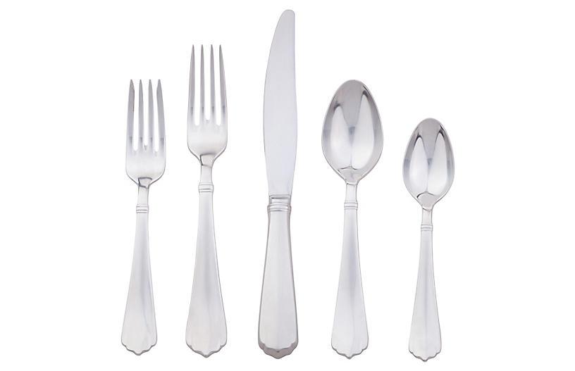5-Pc Kensington Flatware Set, Silver