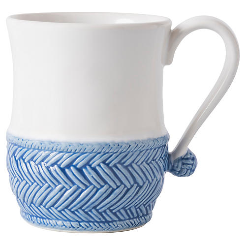 Le Panier Mug, Delft Blue/White