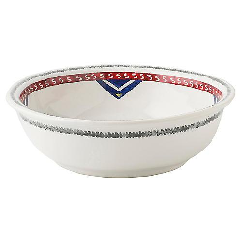 Tangier Coupe Bowl, White/Multi