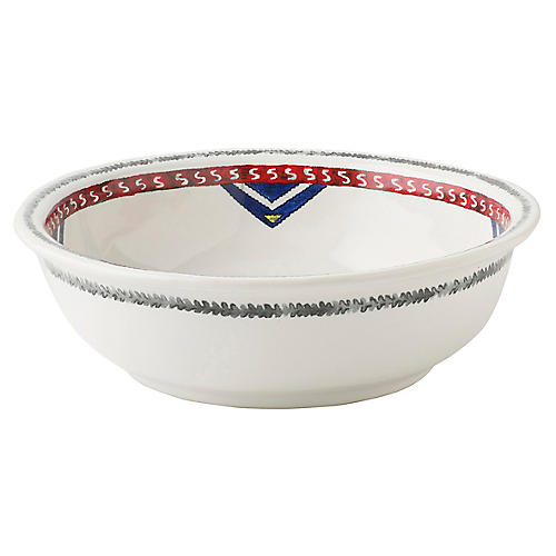 Tangier Coupe Bowl, White/Multi
