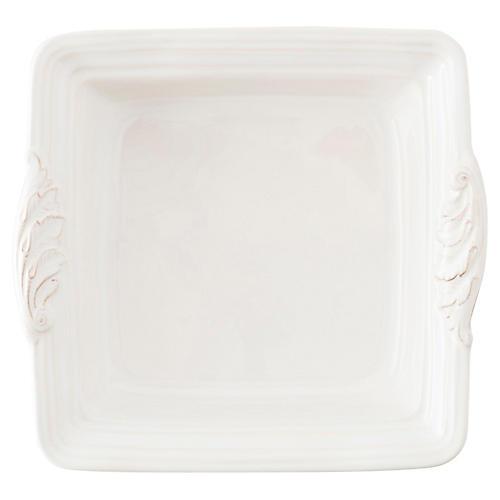 Acanthus Square Casserole Dish, White