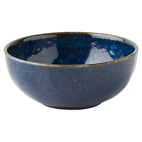 Puro Dappled Cereal Bowl, Cobalt
