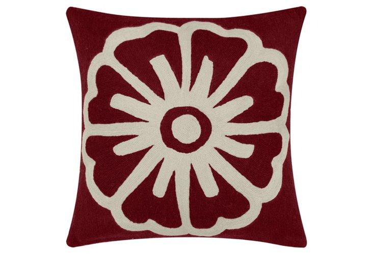 Big Pinwheel 18x18 Pillow, Merlot