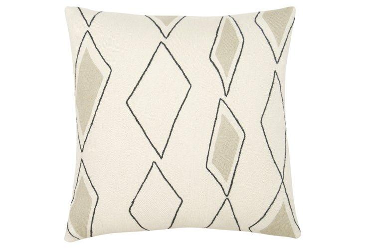 Cascade 18x18 Pillow, Cream