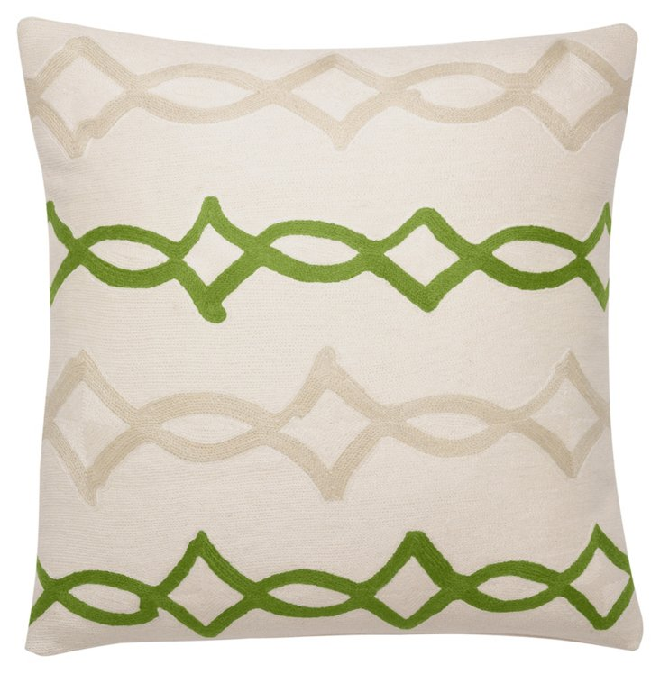 Acrobat 18x18 Pillow, Cream