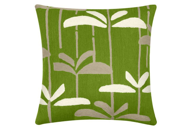 Dragonfly 18x18 Pillow, Lime