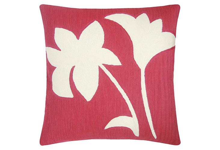 Duet 18x18 Pillow, Orchid