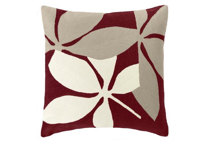 Fauna 18x18 Pillow, Merlot
