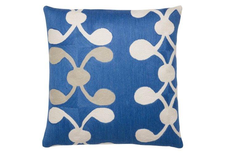 Celine 24x24 Pillow, Marine