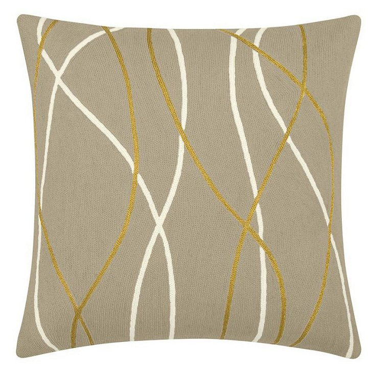 Streamers 24x24 Pillow, Oyster