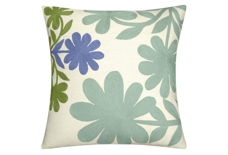 Garden 24x24 Pillow, Cream