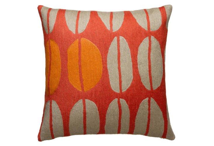 Seeds 16x16 Pillow, Coral