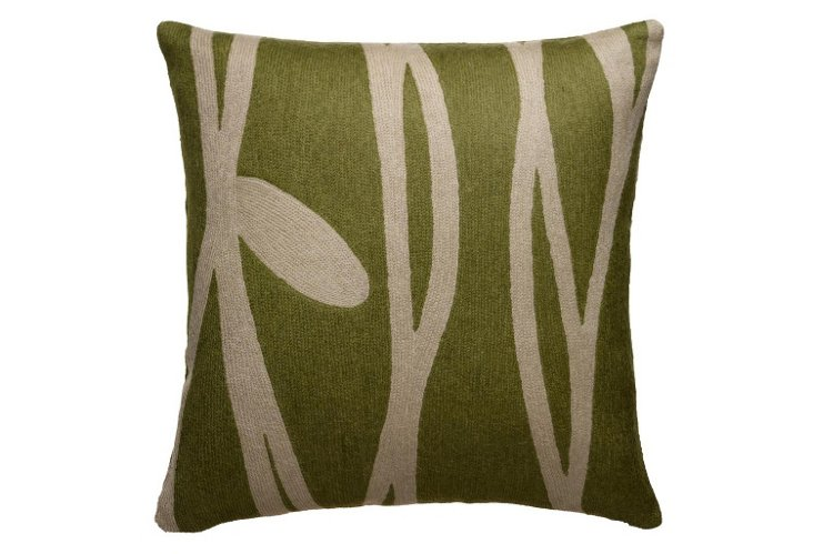 Vines 16x16 Pillow, Jade