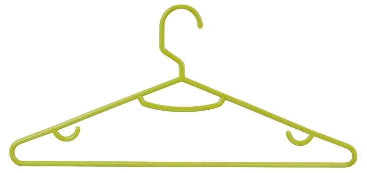 S/30 Plastic Hangers, Green