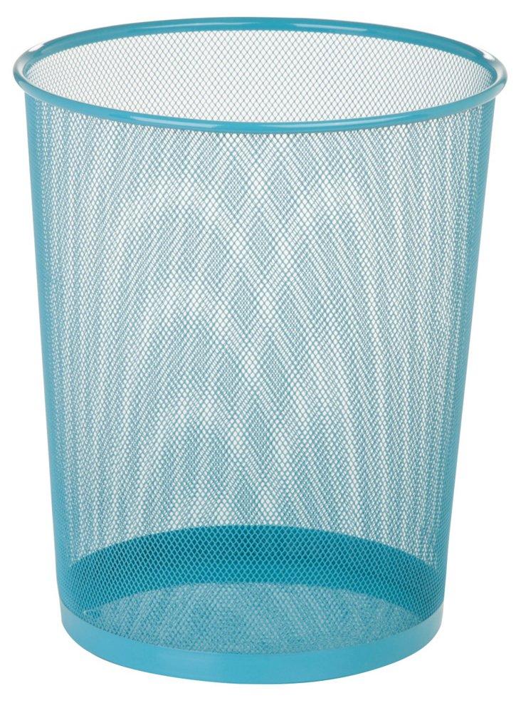 S/2 Blue Mesh Trash Cans