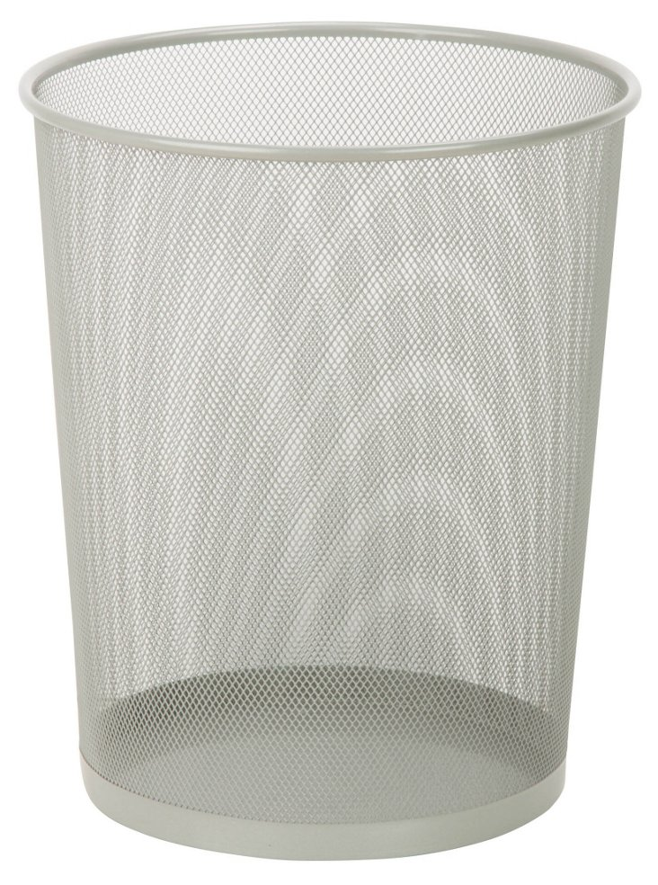 S/2 Silver Mesh Trash Cans