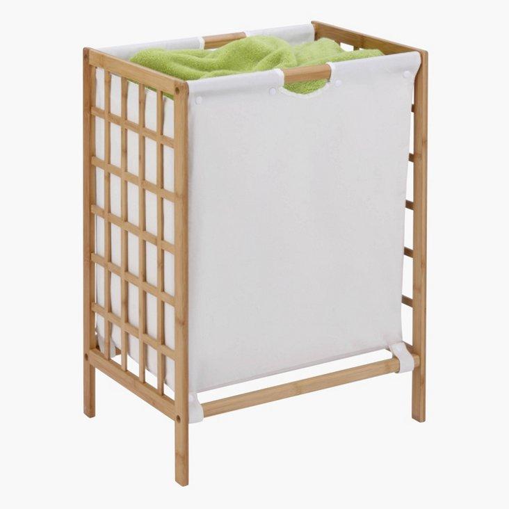 Bamboo Grid Frame Hamper