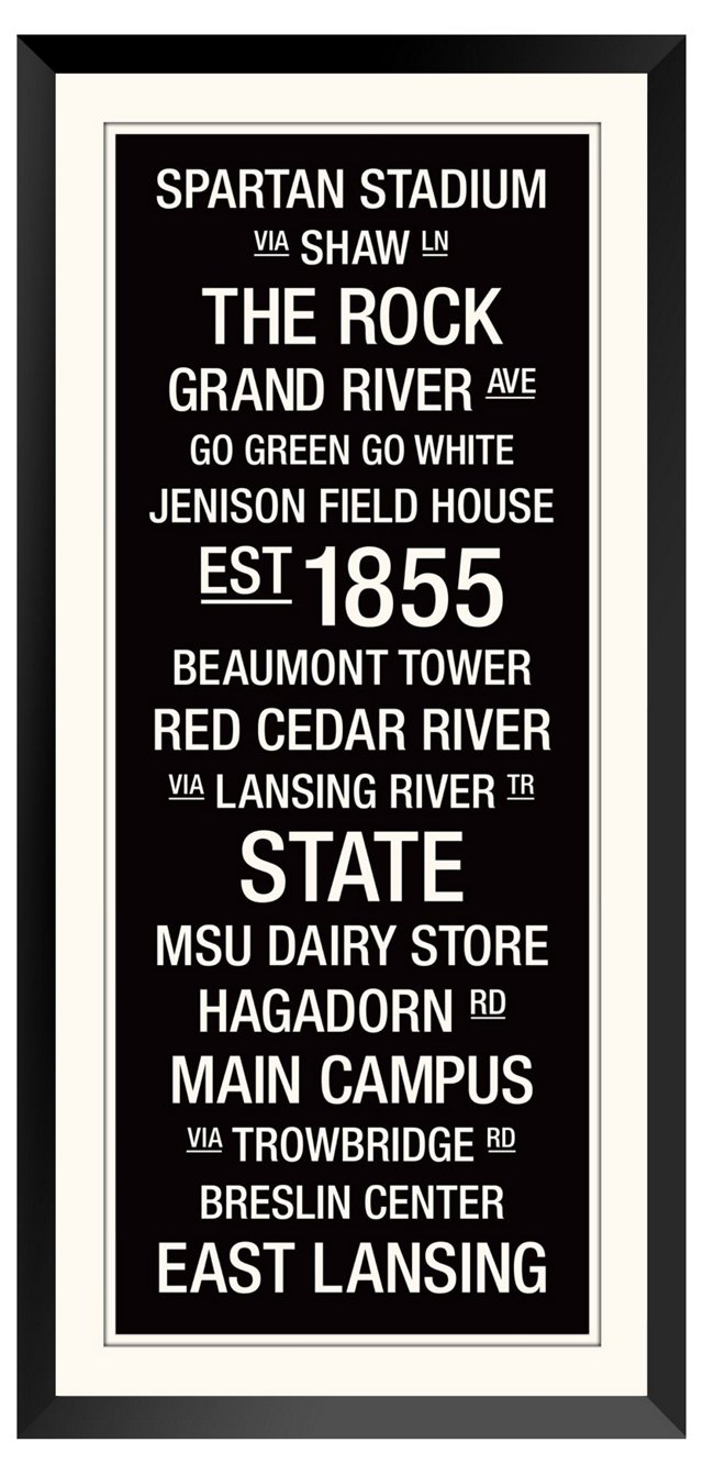 Michigan State: College Town Wall Art