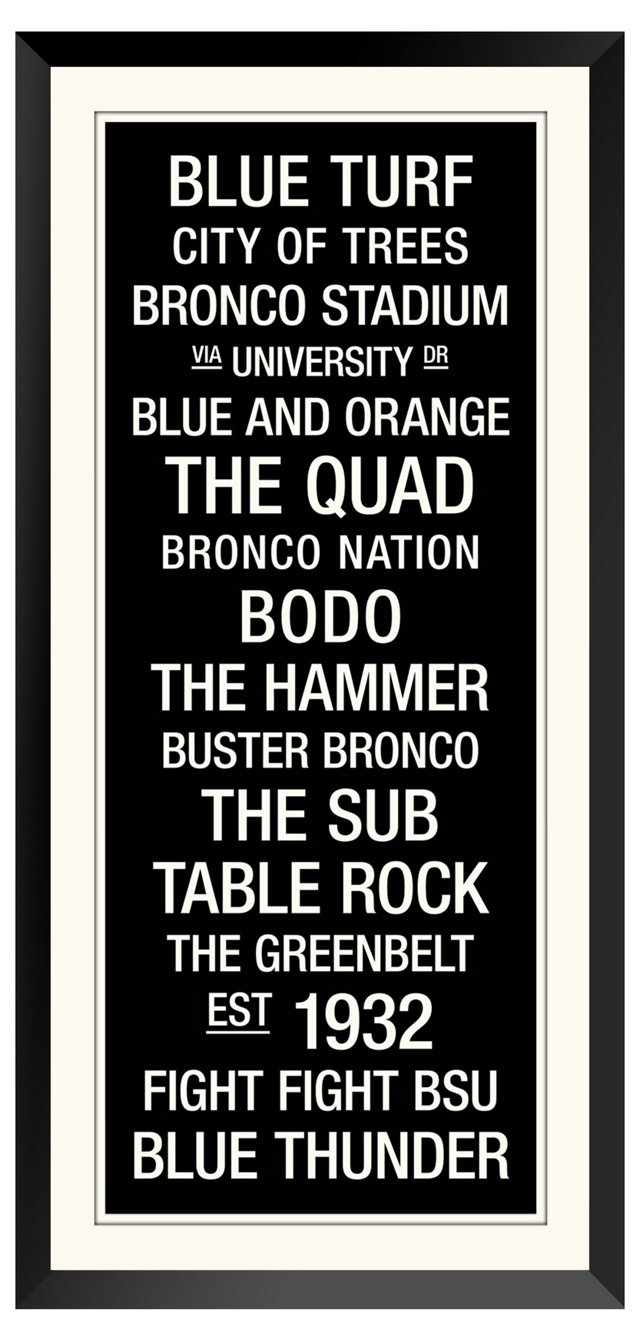 Boise State: College Town Wall Art 34x17