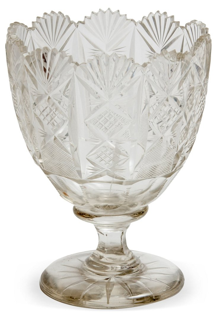 Antique Cut-Glass Spooner