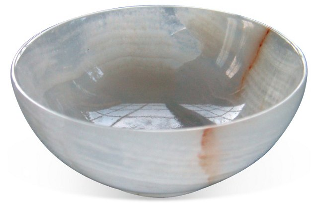 "3"" White Onyx Bowl"