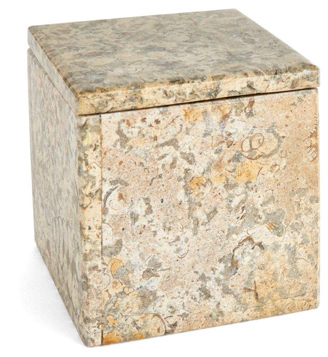 """4"""" Limestone Box, Taupe"""