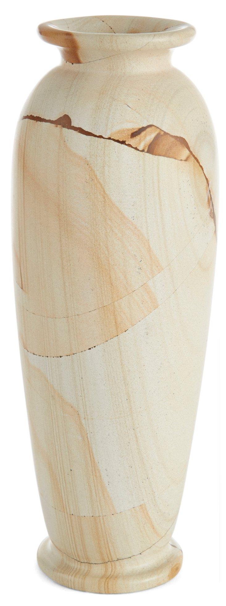 "8"" Marlstone Matka Vase, Natural"