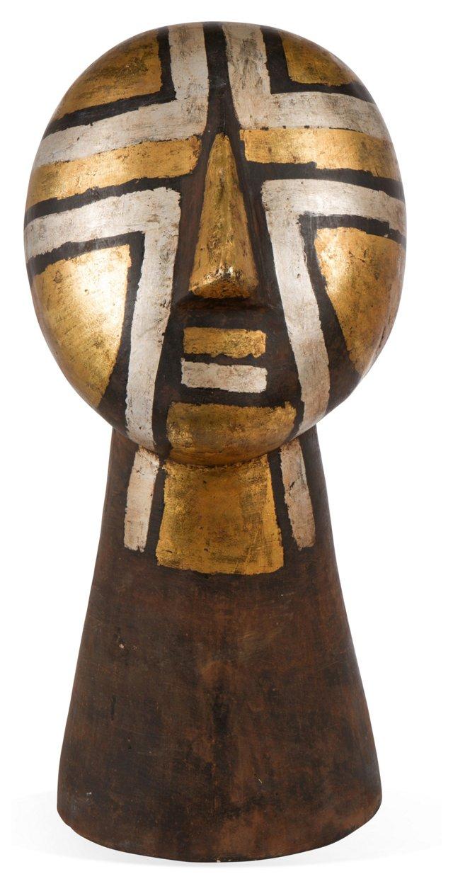 African Bronze Head