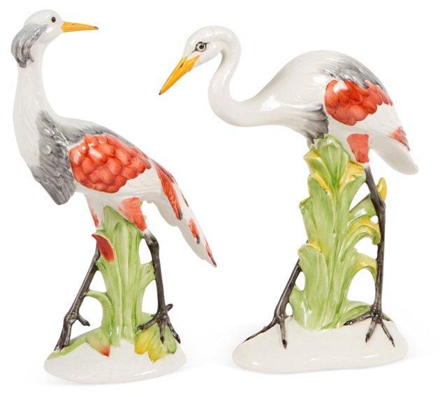 Italian Regency Cranes, Pair
