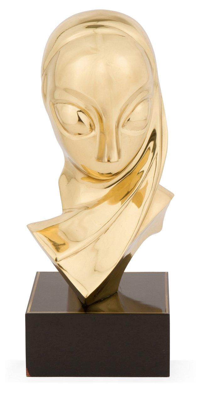 Art Deco Brass Sculpture