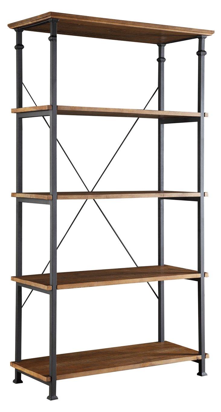 Landon Bookcase, Brown/Black