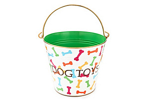 "Bones ""Dog Toys"" Pail, Multi"