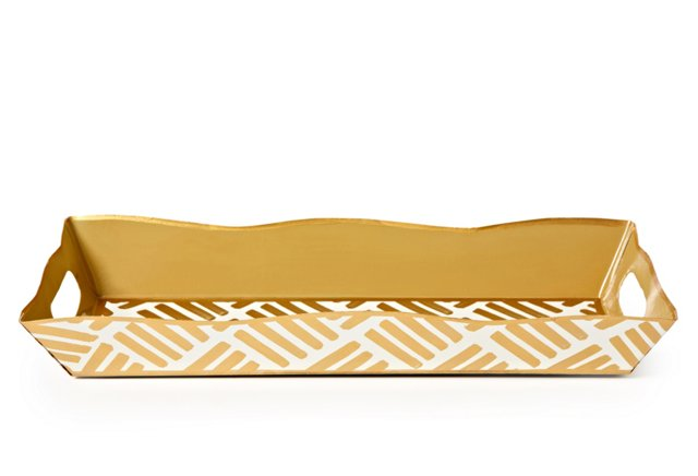 Rectangular Vanity Tray, Sweetgrass Gold