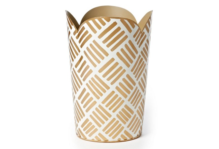 Wastebasket, Sweetgrass Gold