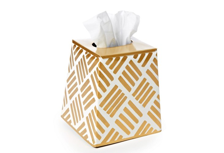 Tissue Box Cover, Sweetgrass Gold