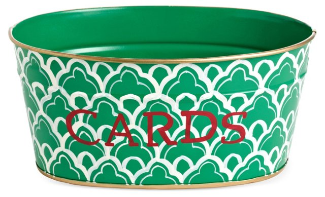 Cards Tub, Scalloped Arches Green