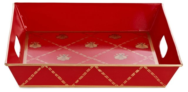 Square Tray, French Bee Red