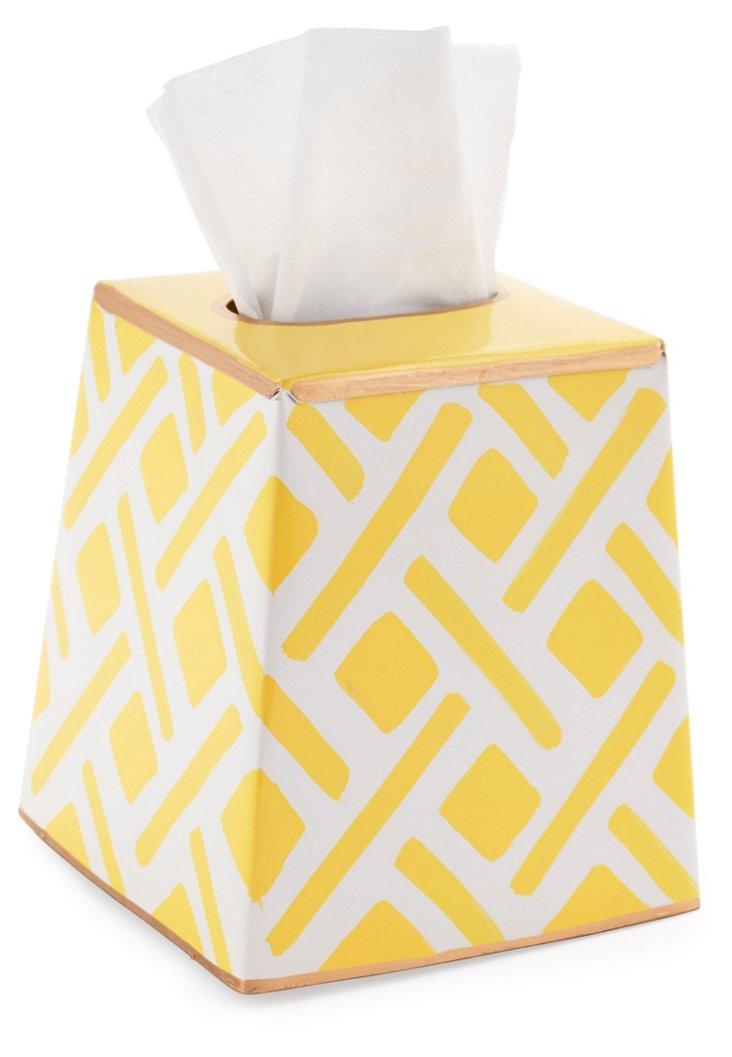 Tissue Box Cover, Colette Yellow