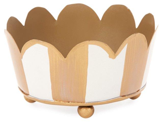 Candle Coaster, Ivory Stripe