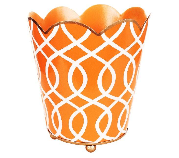"6"" Decorative Cachepot, Kate Orange"
